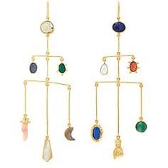 32f3dc679 Grainne Morton Women's Mixed-Gemstone Drop Earrings-Gold