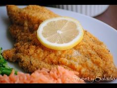 Oven Fried Catfish Recipe - How To Make Breaded Catfish - Sweetysalado.com - YouTube