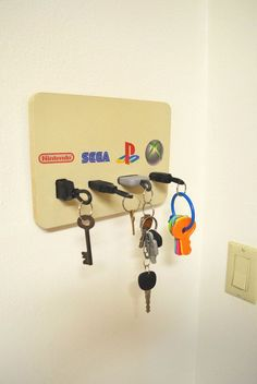 Hey, I found this really awesome Etsy listing at https://www.etsy.com/listing/476054947/video-game-plug-key-chain-holder