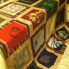 """Here, the front has been assembled and the squares have been marked for the actual quilting. Quilters call this part """"the sandwich."""" ...speaking of quilters, there were times in this project when I felt very close to my late great-grandmother, Daisy. She made heirloom quilts."""