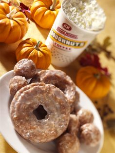 A delicious spread of pumpkin treats ranging from our Pumpkin Spice Doughnuts to Pumpkin Spice Doughnut Holes and a Pumpkin Latte (products vary by location). #PumpkinSpice #US