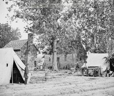 Fair Oaks, Virginia. Old frame house on Fair Oaks battlefield used by Hooker's Division as a hospital. Date Created/Published: 1862 June.