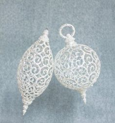 12 White Filigree Ornaments by Gordon Companies, Inc. $142.50. Picture may wrongfully represent. Please read title and description thoroughly.. This product may be prohibited inbound shipment to your destination.. Shipping Weight: 6.00 lbs. Brand Name: Gordon Companies, Inc Mfg#: 30819738. Please refer to SKU# ATR25793789 when you inquire.. 12 White Filigree Ornaments/6'' - 7''L/made of plastic/you get 6 of each ornament shown