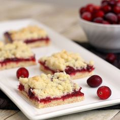 Brown Butter Cranberry Streusel Shortbread Bars by Tracey's Culinary Adventures, via Flickr