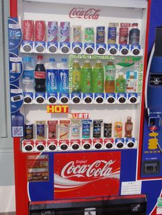 [VENDING MACHINE] Vending machine is placed outside for convience. You can buy just about anything from a vending machine.