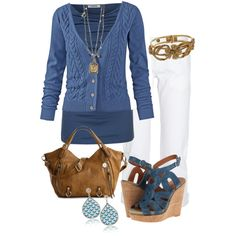 """Easy Blue"" by jewhite76 on Polyvore"