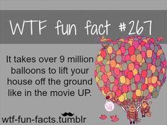 #267 - It takes over 9 million balloons to lift your house off the ground like in the movie UP