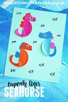 Cupcake Liner Seahorse - Kid Craft