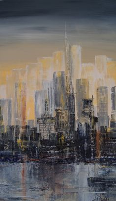 TH2018 Cityscape Acrylic Painting & Drawing, Art Drawings, Poster, Photos, Pictures, Photographs, Posters, Billboard, Art Paintings