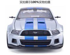 Need for Speed מוסטנג GT סגסוגת דגמי מכוניות משלוח חינם חובבי רכב Diecast מתכת רכב עבור אוסף 1:24 נחמד מוסטנג מודלים