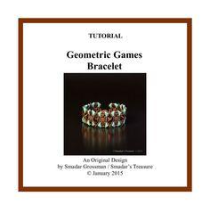 Beading Tutorial Geometric Games Bracelet by SmadarsTreasure