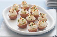 Mini Potato Bites  remodelaholic.com #appetizers #recipe #party