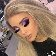 Gorgeous Makeup Glam Wedding Makeup - Make Up World Glam Makeup, Baddie Makeup, Girls Makeup, Bridal Makeup, Hair Makeup, Makeup Eyeshadow, Witch Makeup, Makeup Shop, Halloween Makeup