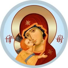 Mother of God of Vladimir - Self-Adhesive Icons - Self-Adhesive Icon from the Workshop of St. Elisabeth Convent - Available in a Variety of Colors - Orthodox Catholic, Catholic Art, Byzantine Icons, Byzantine Art, Blessed Mother Mary, Blessed Virgin Mary, Religious Icons, Religious Art, Virgin Mary