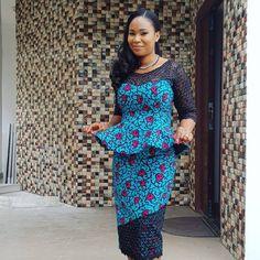 Check Out His Lovely Ankara Skirt and Blouse Nigeria Ladies - DeZango Fashion Zone