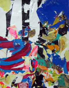 """Saatchi Online Artist: robert tavani; Painting, 2013, Assemblage / Collage """"Fore Middle Back"""""""