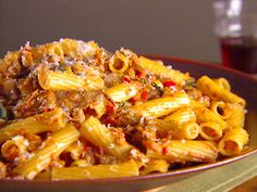 Rigatoni with Vegetable Bolognese #vegetarian