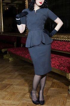 Audrey Malone Suit Dress Get Go Retro