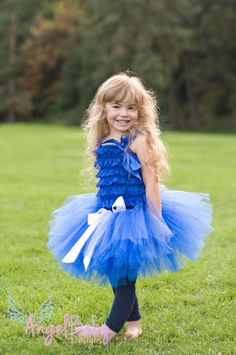 Cookie Monster Inspired Tutu size Small by AngelBabyTutuDesigns, $25.00