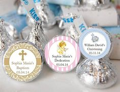 Baptism Christening Gifts Photo Party Kisses Labels Stickers