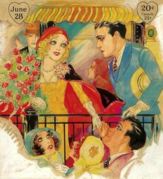 Loves of the American Girl ~ June 1930 issue of All Story   Nell Brinkley image restoration by  Hartmuth Freihoff