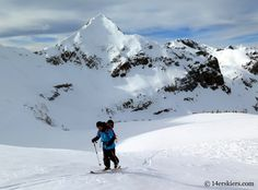Larry Fontaine skiing in the Crested Butte backcountry.
