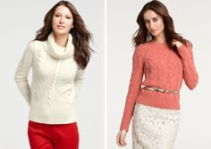 professional styling of cable sweater