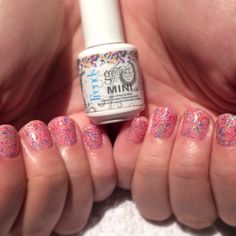 Gelish Manicure- Take Action & Lots Of Dots.  Done by Nail Specialist Allison Cohen