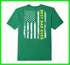 Mens Best Dad Ever American Flag Tshirt XL Kelly Green - Relatives and family shirts (*Amazon Partner-Link)