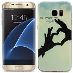 What a lovely gift! Heart shaped hands case cover Original UrCover® Samsung Galaxy S7 Edge [KAMERASCHUTZ] Hülle Tasche Schutzhülle Case Cover Weich Silikon TPU Flexibel Ultra Slim Dünn Muster Hände 10,90€