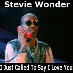Stevie Wonder - I Just Called To Say I Love You chords acordes