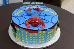 Spider Man Boy's Birthday Cake