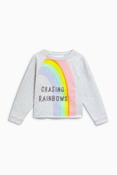 Buy Grey Rainbow Crew Neck Sweater (3-16yrs) from the Next UK online shop