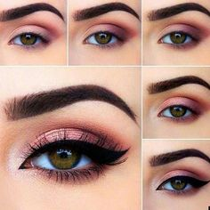 to do eye makeup eye makeup looks best on me makeup tutorial for. - to do eye makeup eye makeup looks best on me makeup tutorial for green eyes e - Makeup Eye Looks, Eye Makeup Steps, Cute Makeup, Gorgeous Makeup, Gorgeous Gorgeous, Smokey Eye Makeup Tutorial, Romantic Eye Makeup, Perfect Makeup, Eye Makeup Remover