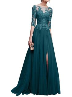 LaceShe Women's Elegant Long Gown Dress LaceShe Frauen elegantes langes Kleid Kleid Elegant Dresses, Pretty Dresses, Beautiful Dresses, Elegant Gown, Long Gown Dress, Lace Dress, Long Gowns, Bridesmaid Dresses, Prom Dresses