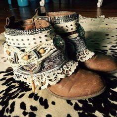 ☮ American Hippie Bohéme Boho Style ☮ Boot Wraps
