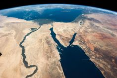The Nile and the Sinai in March 2013 (NASA)