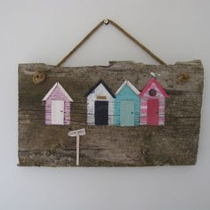 Beach huts, have to make somthing like this for the bathroom!