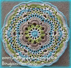 crochet doily free 29cm