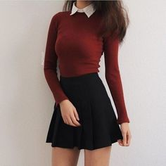 50 moderne Rock-Outfit-Ideen, die sich für den Herbst eignen 50 modern rock outfit ideas that are suitable for autumn # own outfits with skirts Teen Fashion Outfits, Mode Outfits, Cute Fashion, Look Fashion, Korean Fashion, Fashion Dresses, Trendy Fashion, Fashion Ideas, Dress Outfits