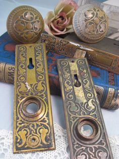 antique ornate brass door plates antique door hardware