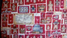 "Fabric Dianna Marcum Grandma's Gingerbread Cookies Cotton 1 Yds x 44"" Christmas #DiannaMarcum"