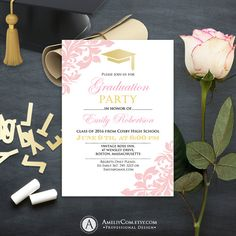 College Graduation Announcement Printable template by AmeliyCom https://www.etsy.com/listing/276011496/college-graduation-announcement