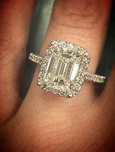 Custom emerald cut d