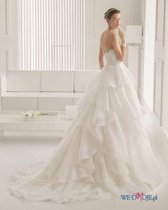 suknia ślubna Rosa Clara z falbanami