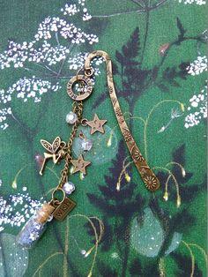 Make a Wish, Small Fairy, Bronze Bookmark - Crafty Magpie