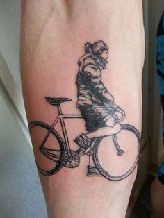 Cycling girl  #tattoos #bicycletattoos #biketattoos