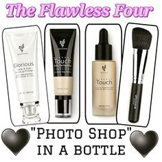 "Wouldn't you love to have flawless skin without the use of filters? The ""Flawless Four"" is perfect...get unbelievably amazing coverage! ginafancy.com"