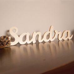 Letras personalizadas en madera decorando pinterest - Casa letras madera ...