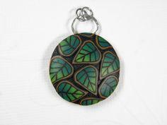 Millefiori Leaf Pendant. $22.00, via Etsy.